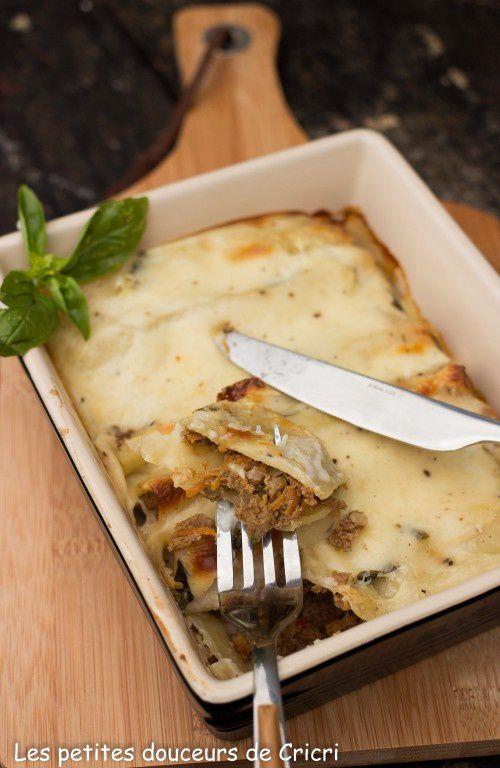 Cannellonis à la viande et aux légumes
