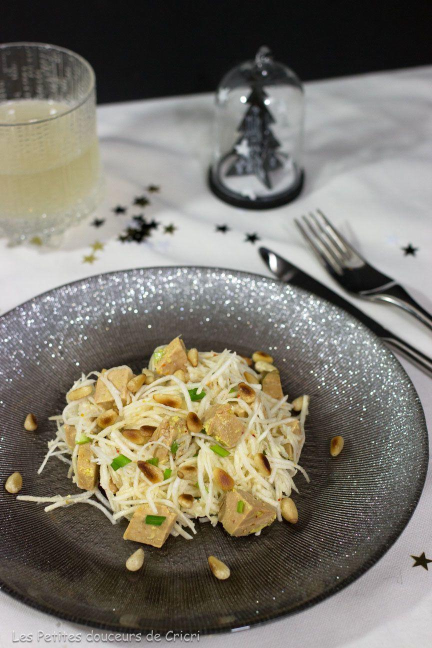 Salade de céleri à l'asiatique et au foie gras #Concours Inside
