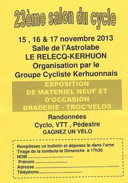 SALON DU CYCLE LE RELECQ-KERHUON 2013