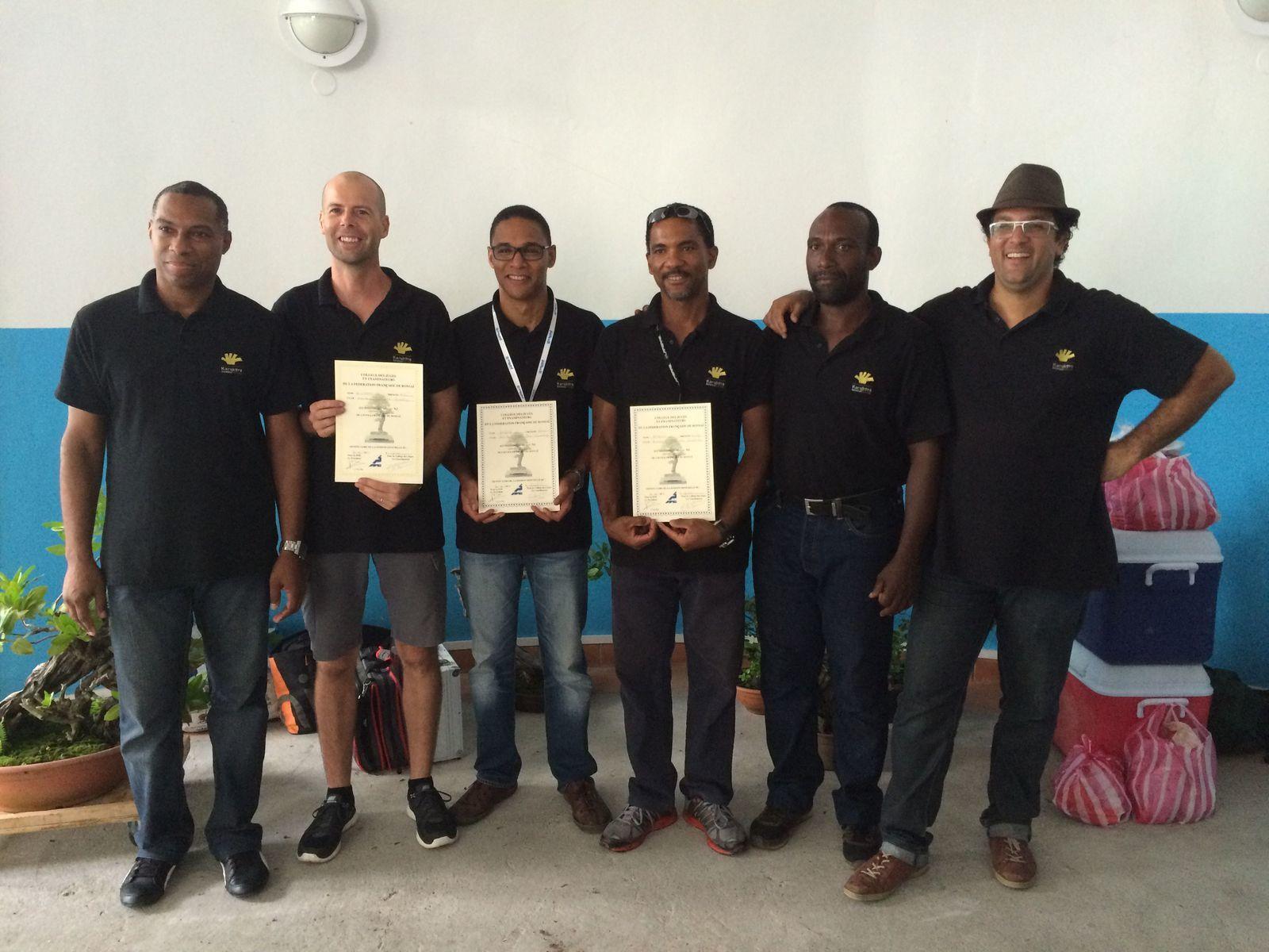 Bravo Fabrice, Loïc et Frantz ! la suite le WE suivant en Martinique