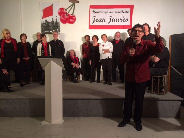 Participation au spectacle en hommage à Jean Jaurès, le pacifiste