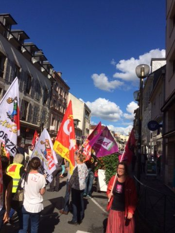 15 Septembre 2016 : manifestation à Tulle