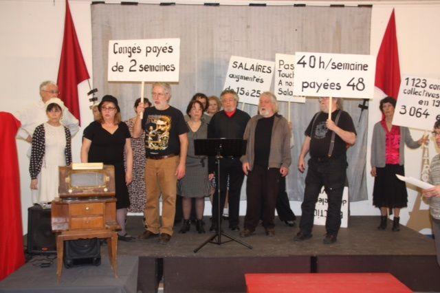 Mouvement de la Paix 19:Spectacle &quot&#x3B;C'était 36 &quot&#x3B;