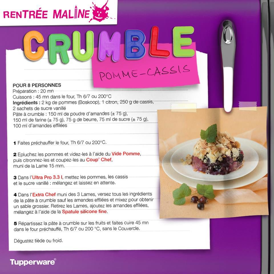 Crumble Pomme-Cassis