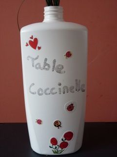 Décoration de Table &quot&#x3B;coccinelle&quot&#x3B;