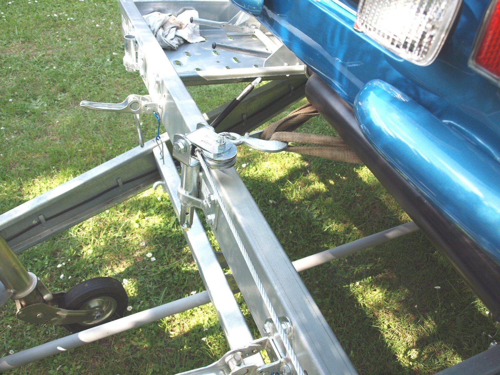 Les premiers essais de la remorque porte voiture