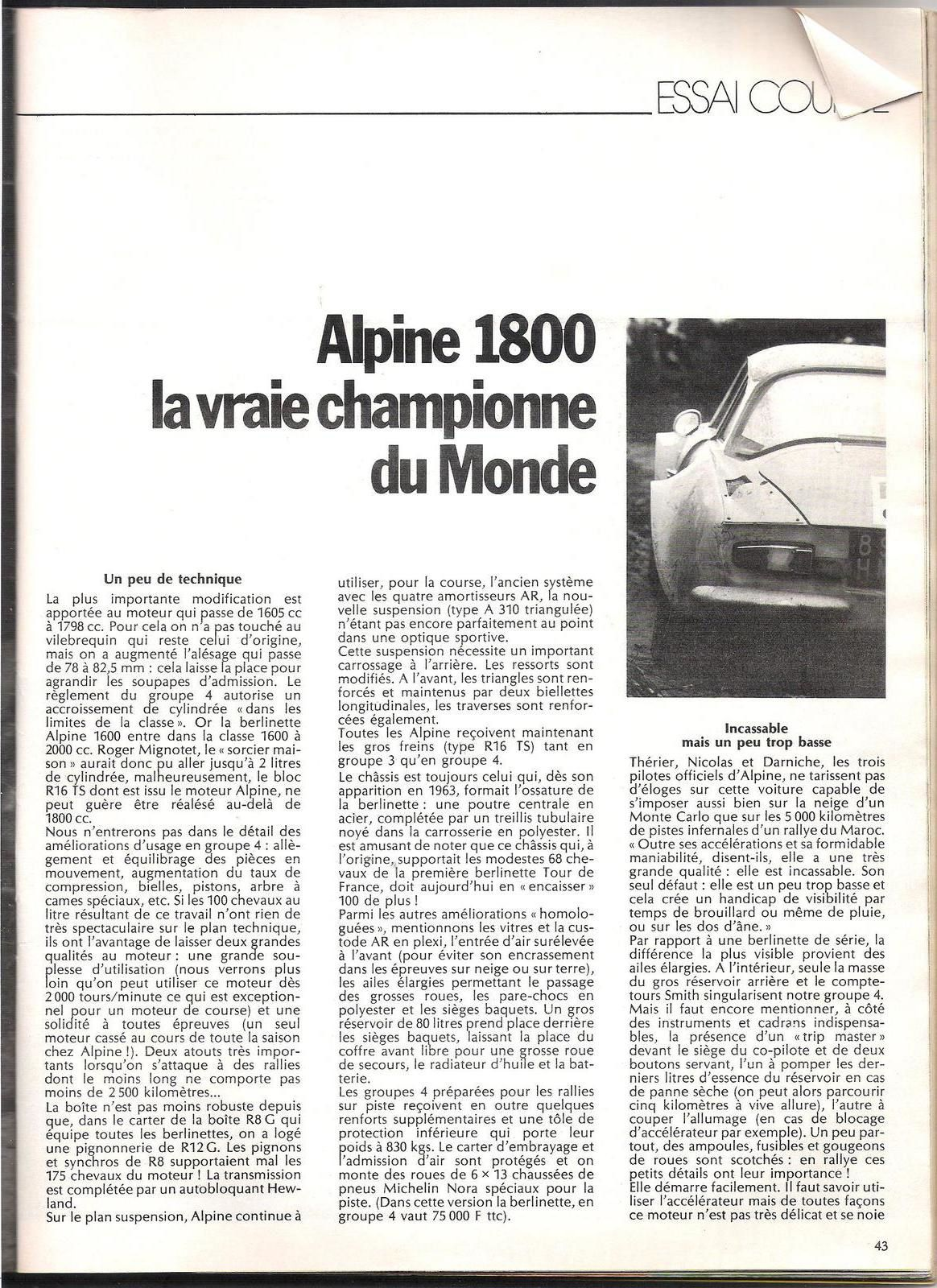 Berlinette 1800