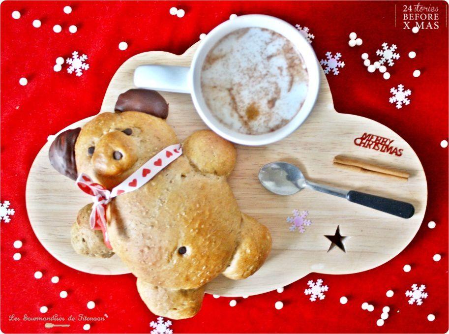 Ourson Brioché de Noël à la Cannelle &amp&#x3B; Son Chocolat Chaud