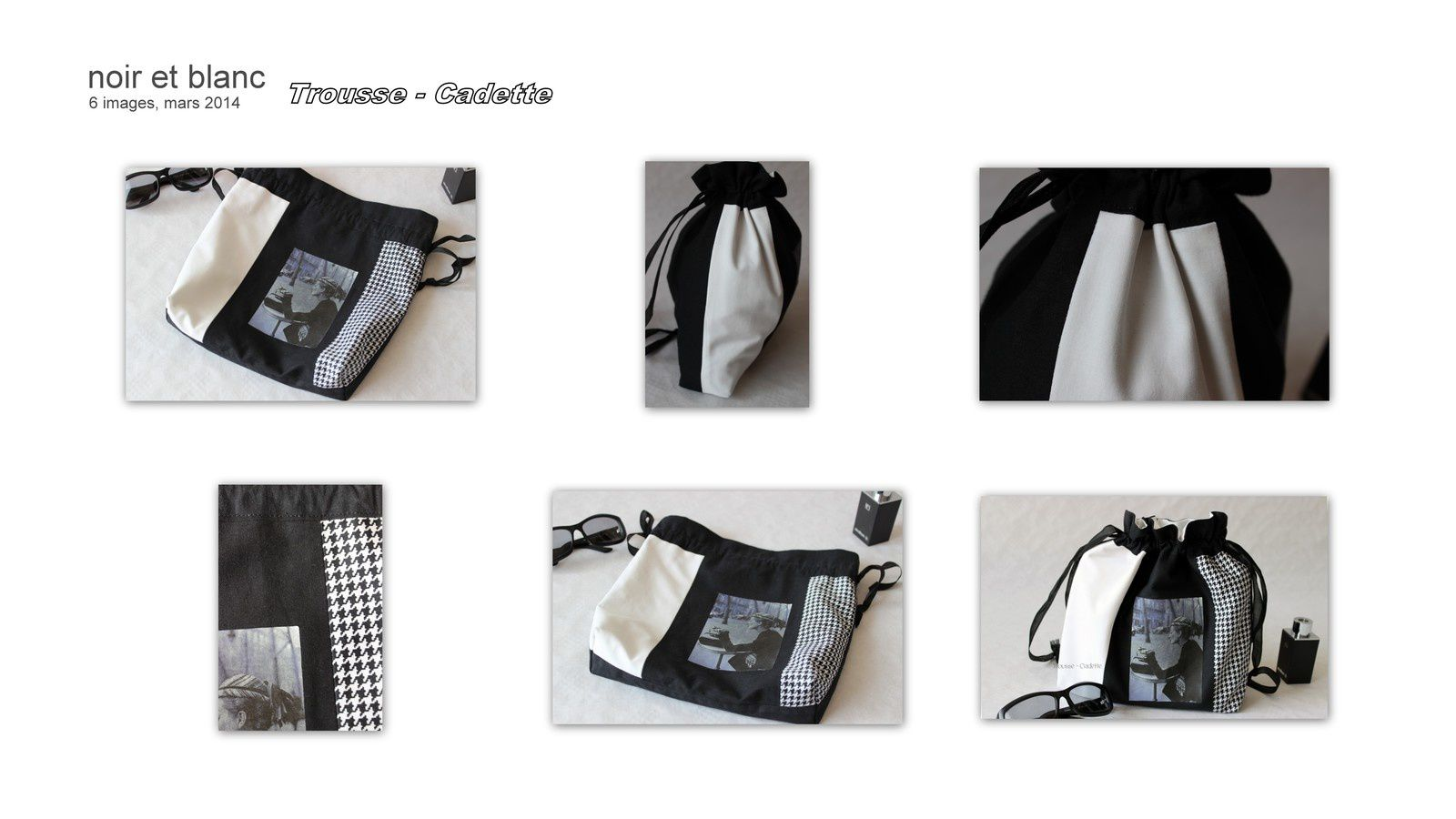 pochette de voyage so chic le noir et blanc trousse cadette. Black Bedroom Furniture Sets. Home Design Ideas