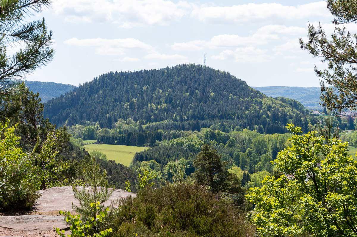 BRUYERES-VOSGES : retour au point de vue de la Roche de Fouchon