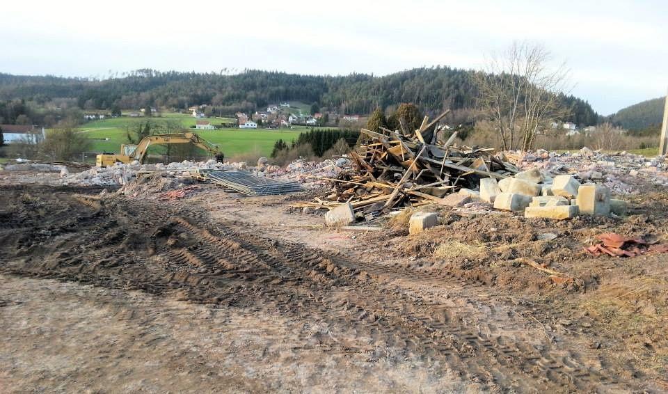 La démolition du Gai Logis - Photographies de François MANGIN, janvier 2015