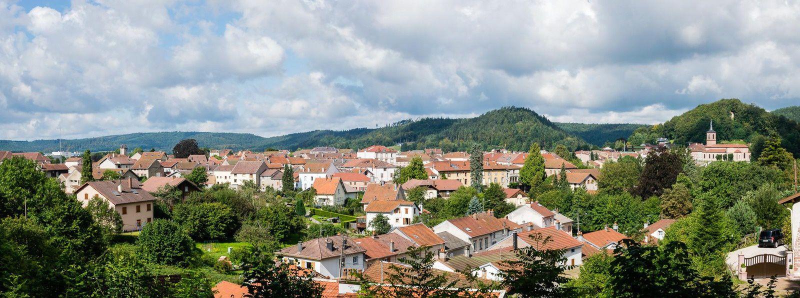 Panoramique sur Bruyères depuis la base de l'Avison - Photo 24 août 2014
