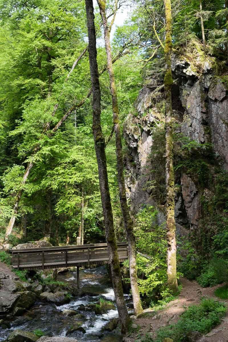 Environs de BRUYÈRES-VOSGES : Balade aux Cascades de TENDON