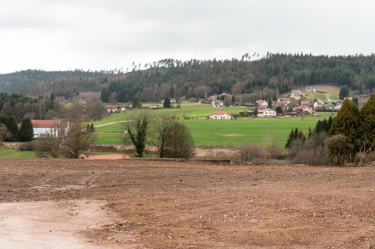 BRUYÈRES-VOSGES en 2015 après la démolition du Gai Logis