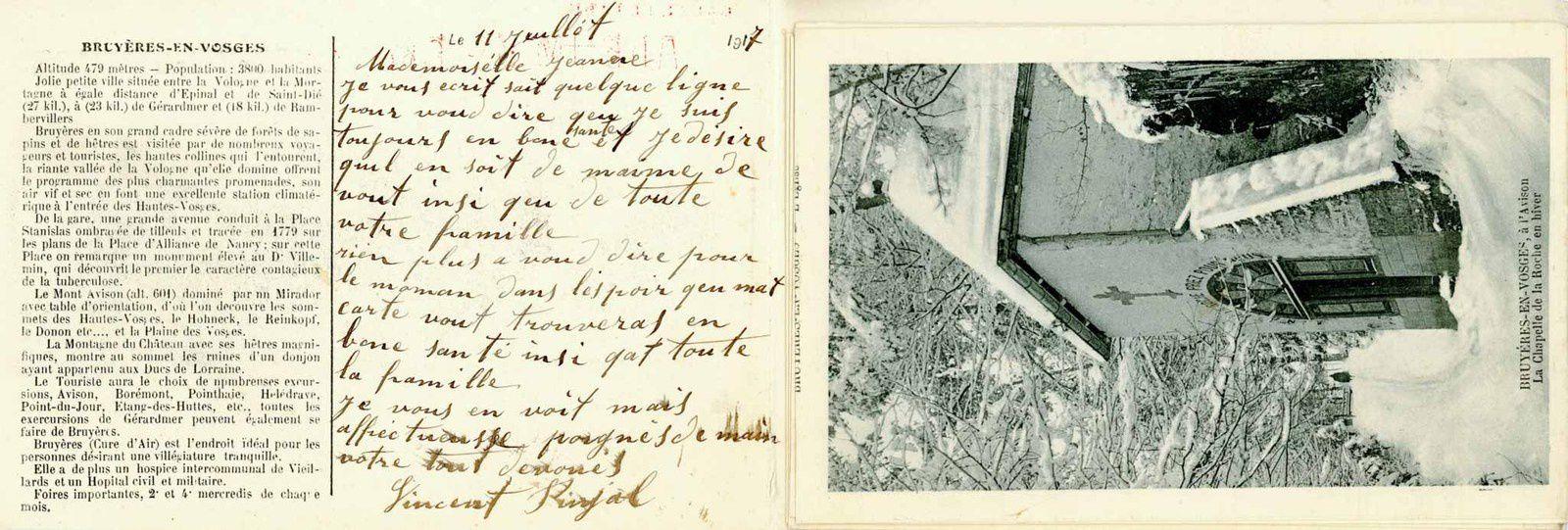 Un album carte-lettre de Bruyères-en-Vosges