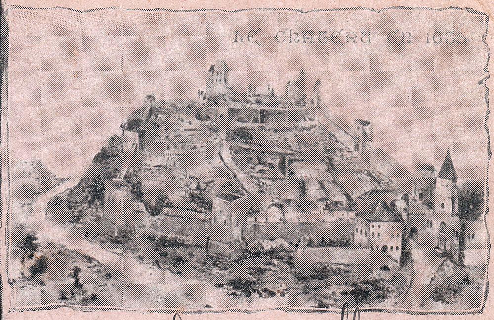 BRUYERES - VOSGES : La montagne du Château enneigée, la CABEE, La Chapelle SAINTE-BLAISE