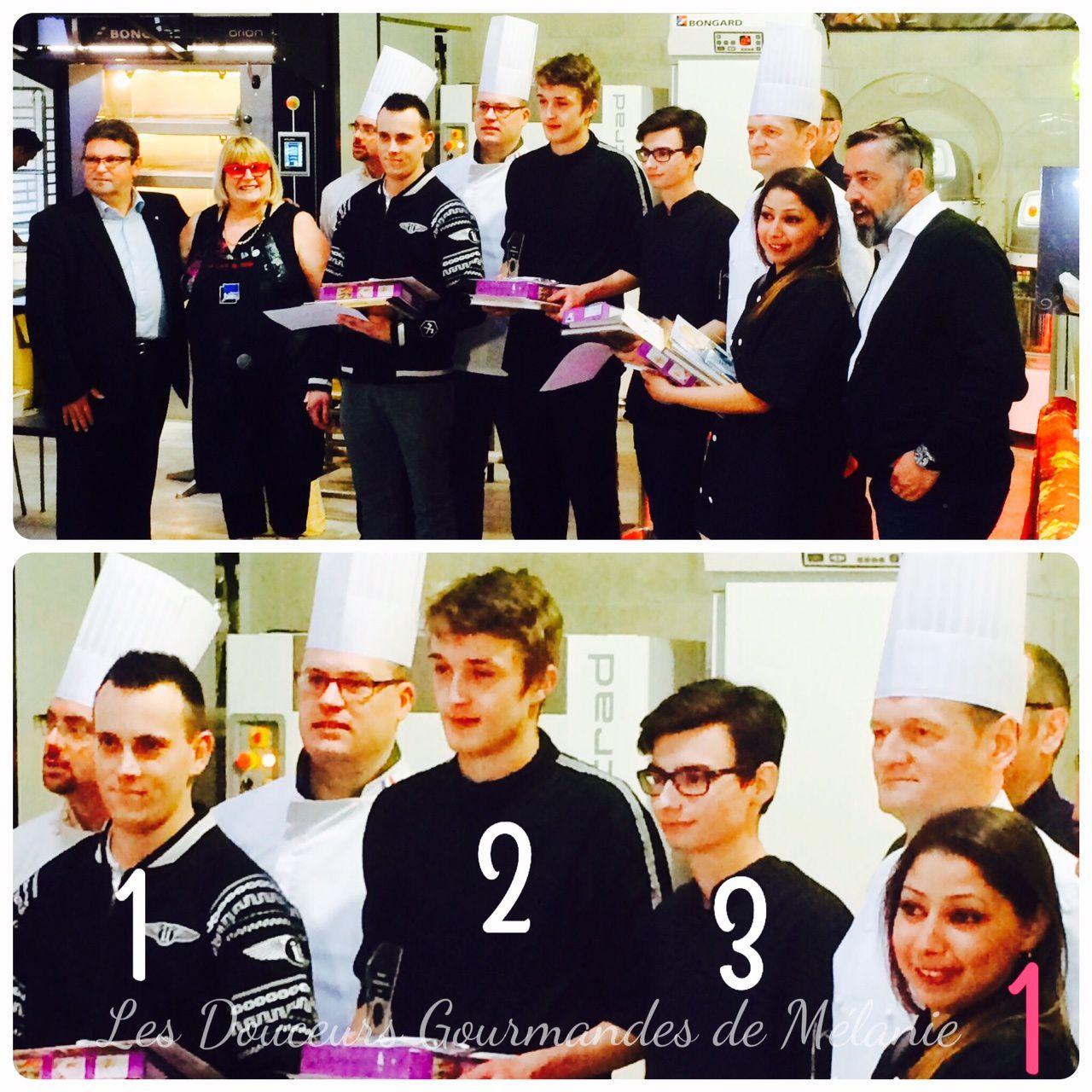 Les résultats des deux concours du salon Boule, Pâte en Nord : pièce chocolat et cake design
