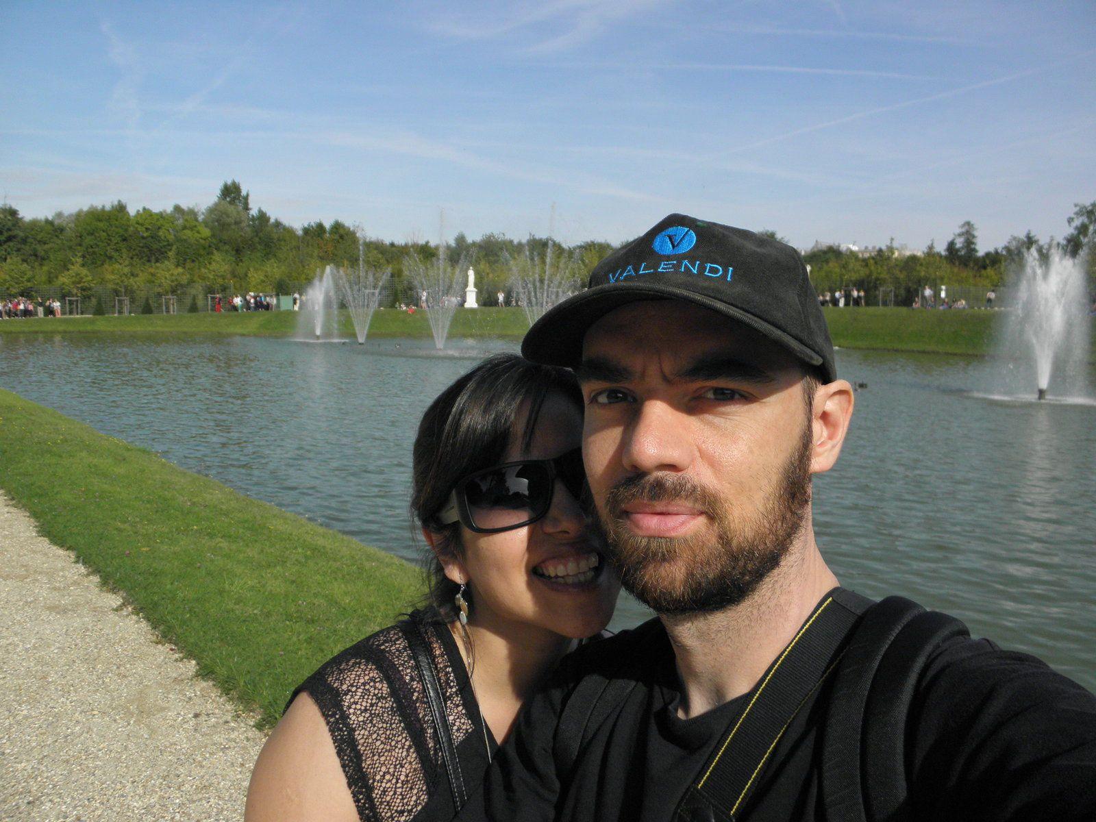 """Septembre 2013. Toujours dans les jardins de Versailles à l'occasion d'une journée intitulée """"Les grandes eaux"""". Ils mettent en route à heures précises les fontaines des jardins."""
