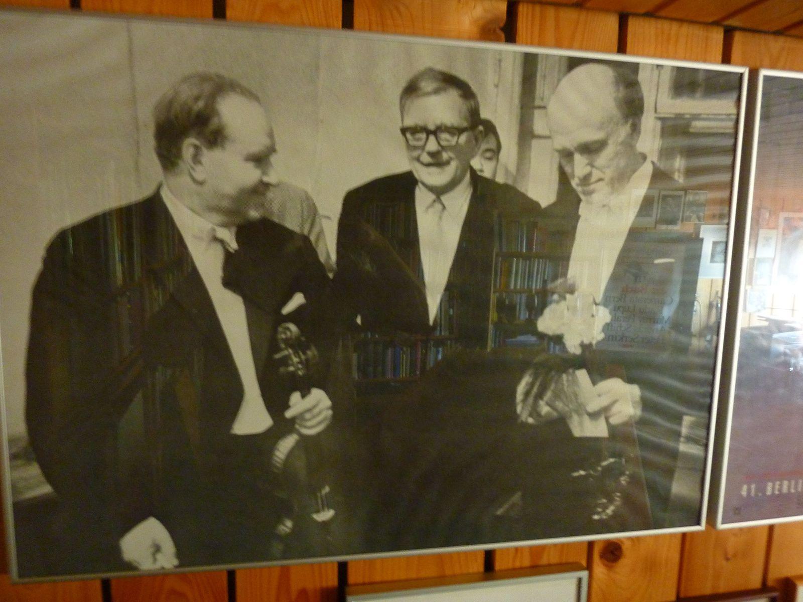 Schostakowitsch, David Oistrach, Svjatoslav Richter, Moskau 1968, Foto Dirk Nabering