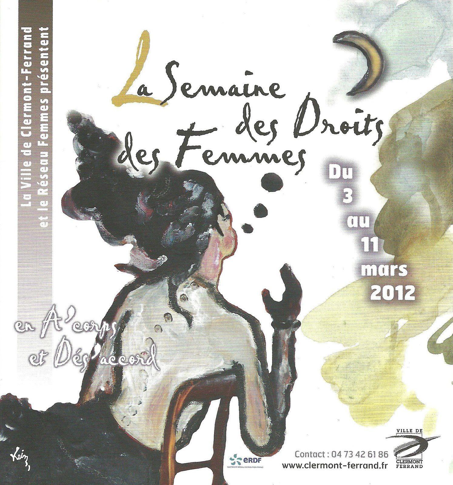 Programme droits des femmes 2012 - Clermont-Ferrand