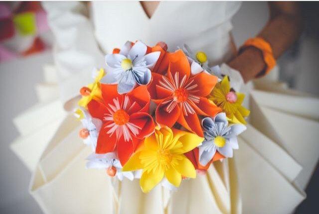 Fleurs en papier mon amour