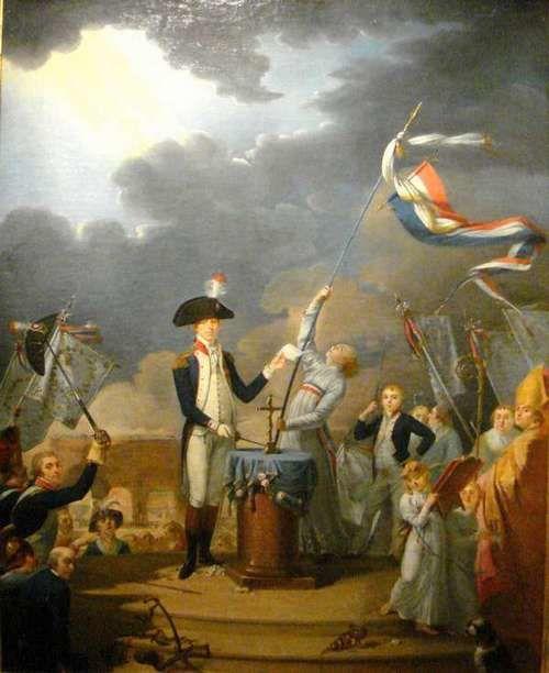 La Fayette et Talleyrand à la Fête de la Fédération le 14 juillet 1790
