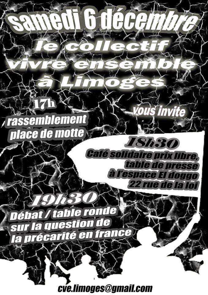 Collectif Vivre Ensemble à Limoges: mobilisation 6 décembre