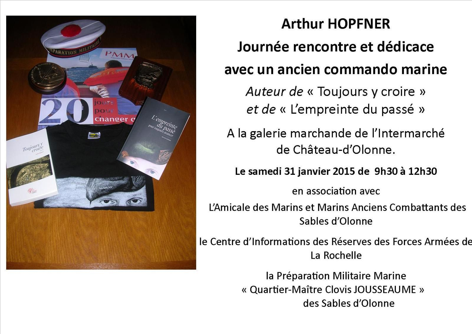 Arthur HOPFNER Journée rencontre et dédicace avec un ancien commando marine