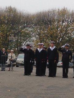 Une délégation de La Préparation Militaire Marine aux cérémonies du 11 novembre 2015 à Luçon.