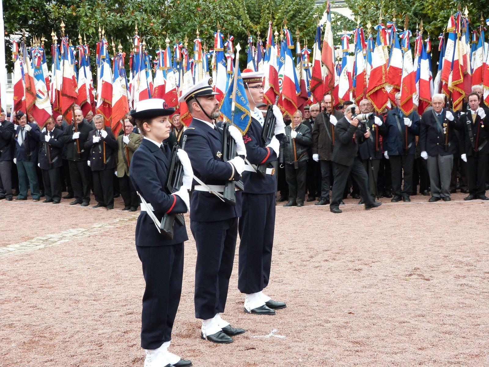 Cérémonie AFN et prise de fanion PMM à La Roche sur Yon