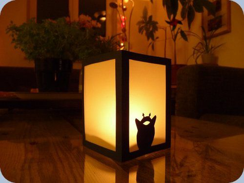 diy lampion totoro fait main par stance. Black Bedroom Furniture Sets. Home Design Ideas