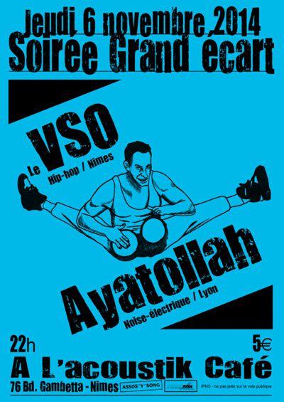 Jeudi 6 novembre à l'Acoustik café : le VSO + AYATOLLAH