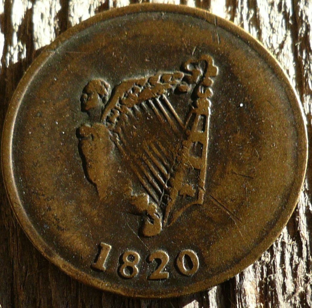 Lower Canada - 1820 half-penny - Bust and Harp Token Breton