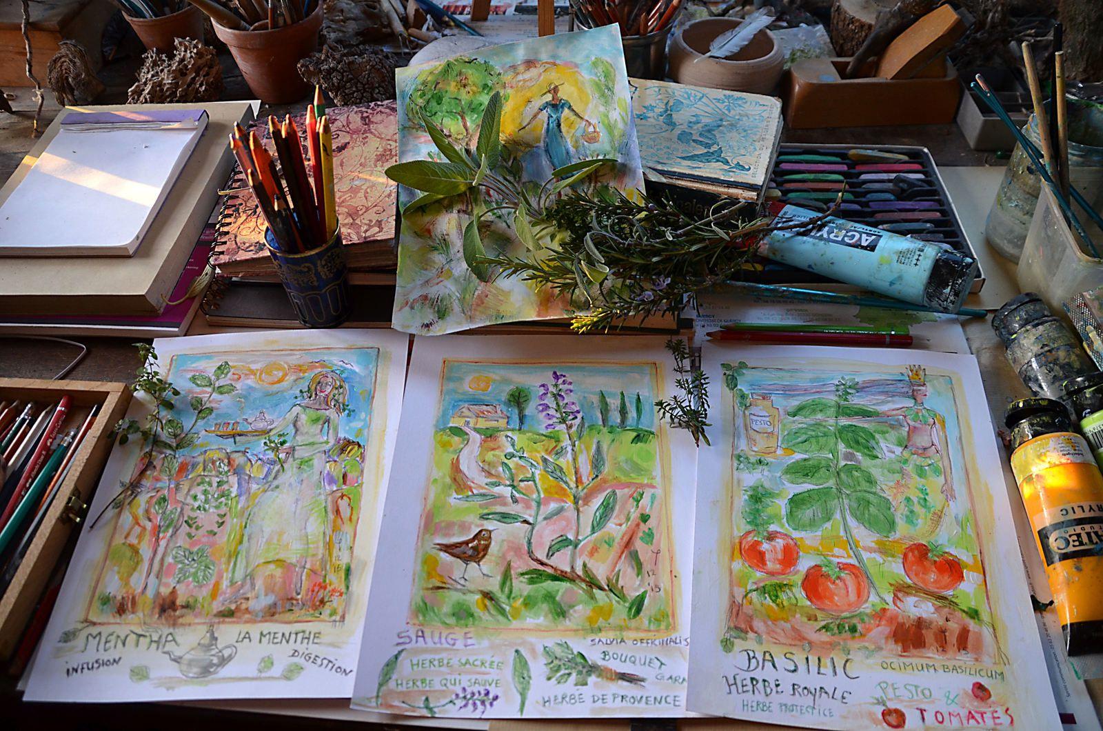 Atelier - mon herbier