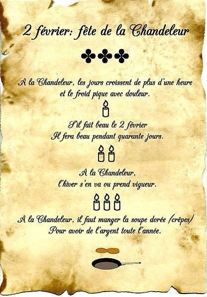 la Chandeleur...