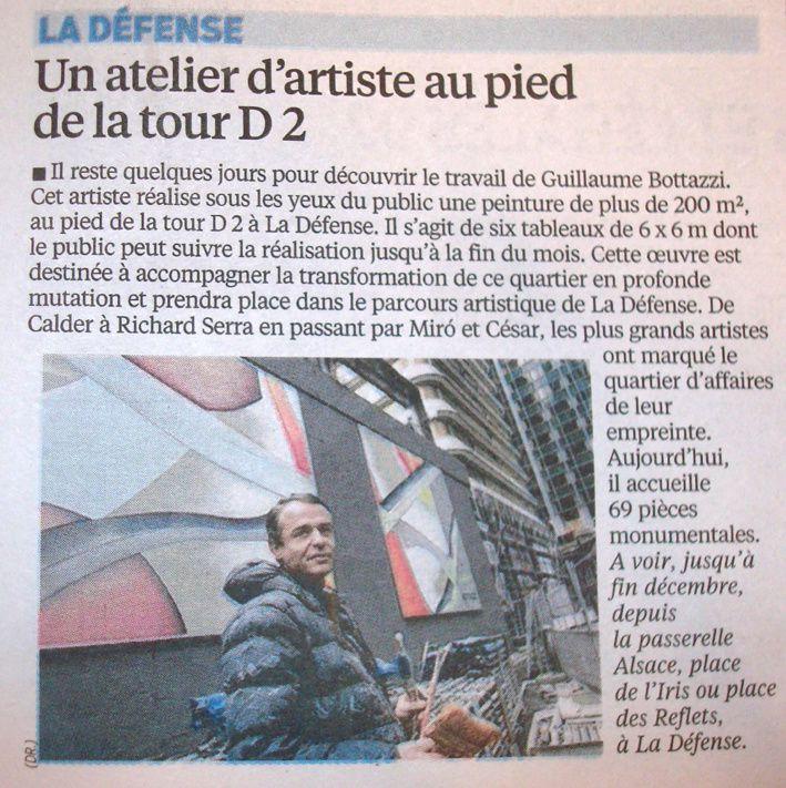 Guillaume Bottazzi - Journal Le Parisien - 19/12/2014