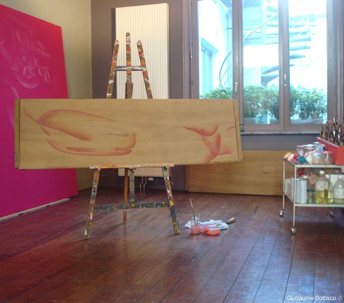 In process : Guillaume Bottazzi - Paintings installation