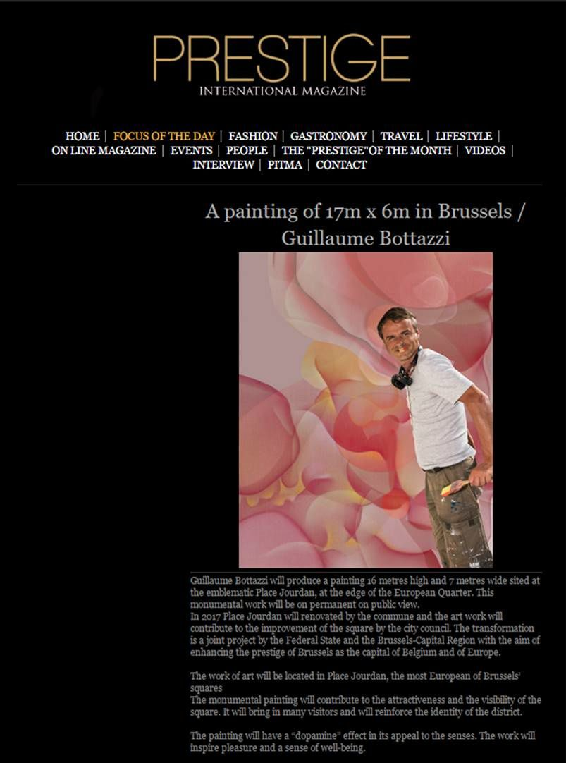 A painting of 17m x 6m in Brussels / Guillaume Bottazzi