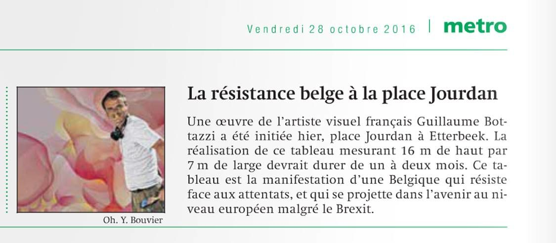Guillaume Bottazzi - Journal Metro - Oct 2016