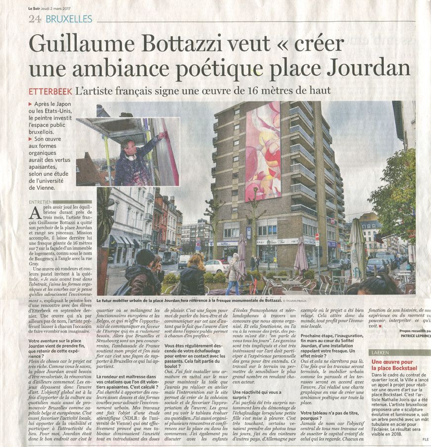 Guillaume Bottazzi / journal &quot&#x3B;Le Soir&quot&#x3B;