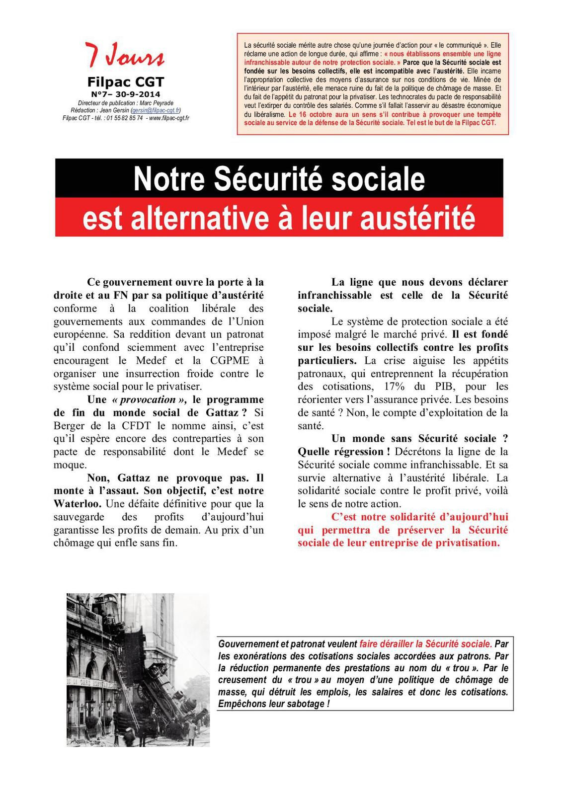 Notre Sécurité sociale est alternative à leur austérité