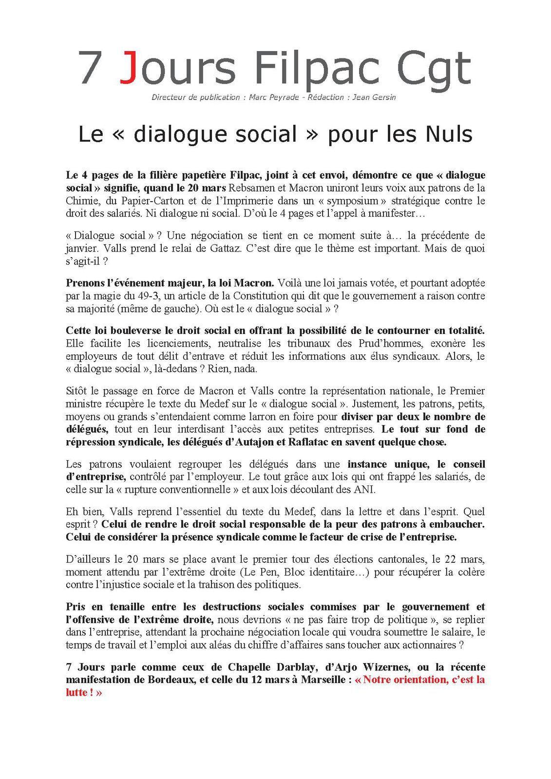 Le « dialogue social » pour les Nuls