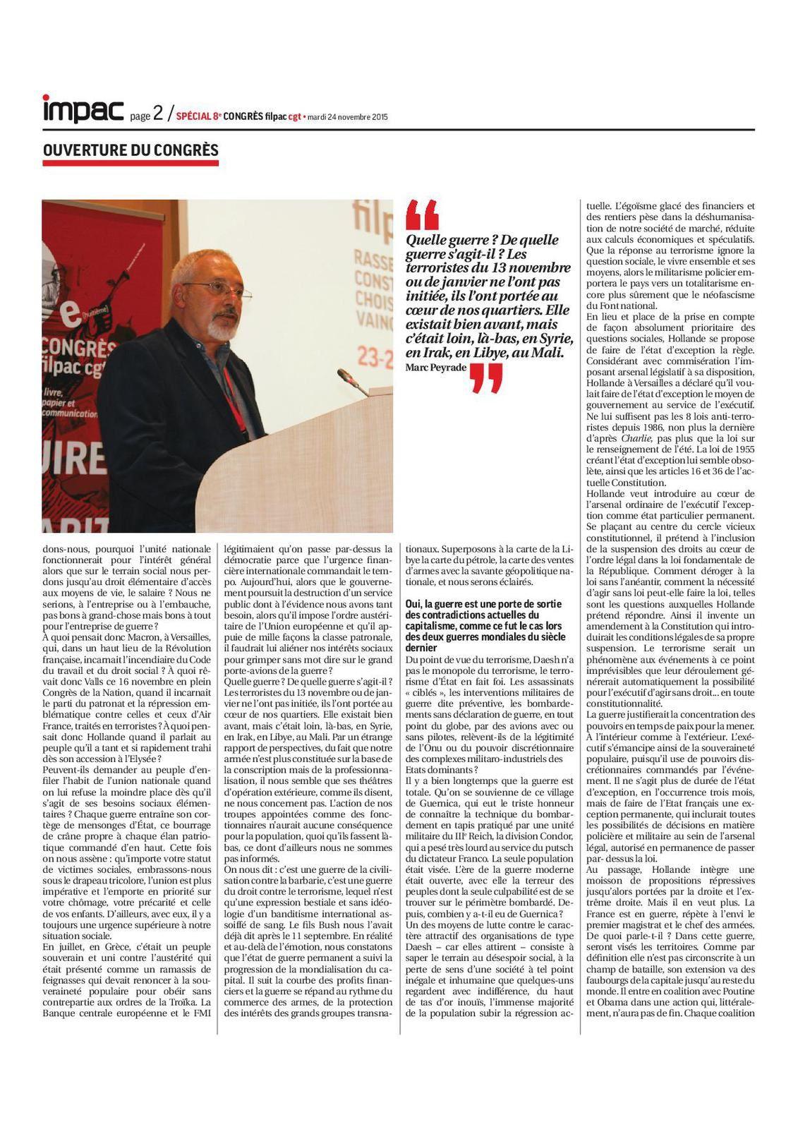 IMPAC spécial Congrès FILPAC du 24/11/2015