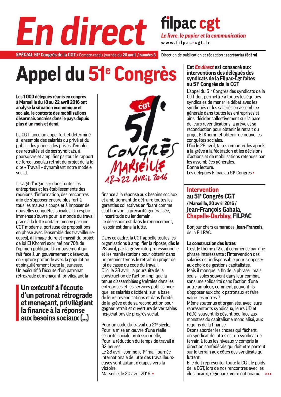 51 eme CONGRES: Numéro 3