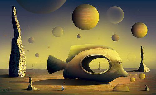 """""""Paisagem com Peixe"""" par Marcel CARAM."""