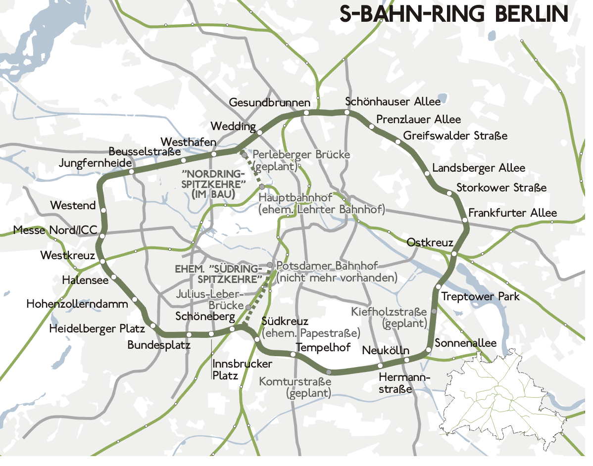 Le S-Bahn-Ring de Berlin (source : http://pl.wikipedia.org/wiki/Ringbahn_w_Berlinie)