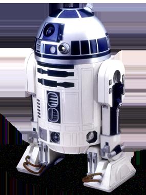 """Le droïde R2-D2 dans la """"guerre des étoiles"""" de G. Lucas (source : https://en.wikipedia.org/wiki/R2-D2)"""