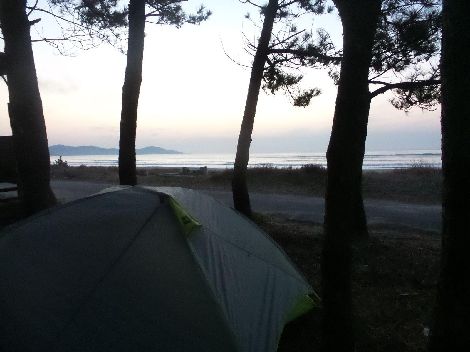 Notre campement au bord de l'océan