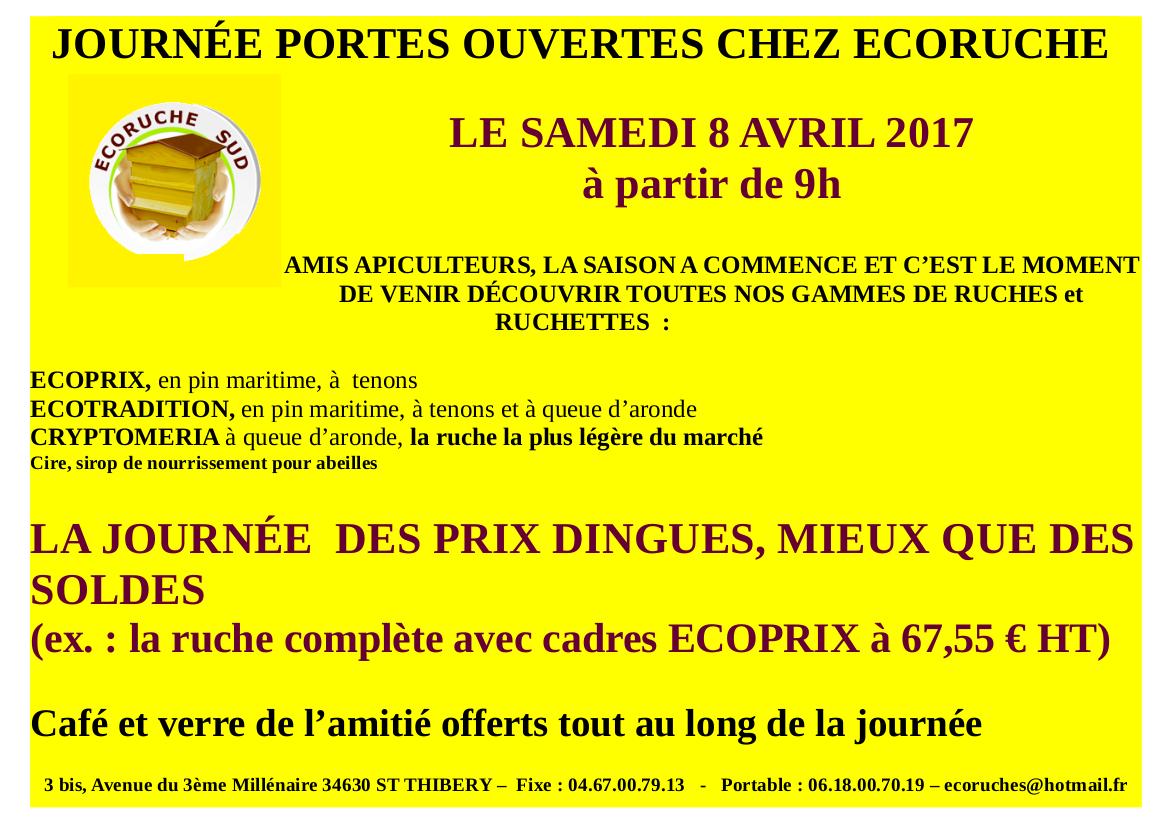 ECORUCHE Portes ouvertes Samedi 8 avril 2017
