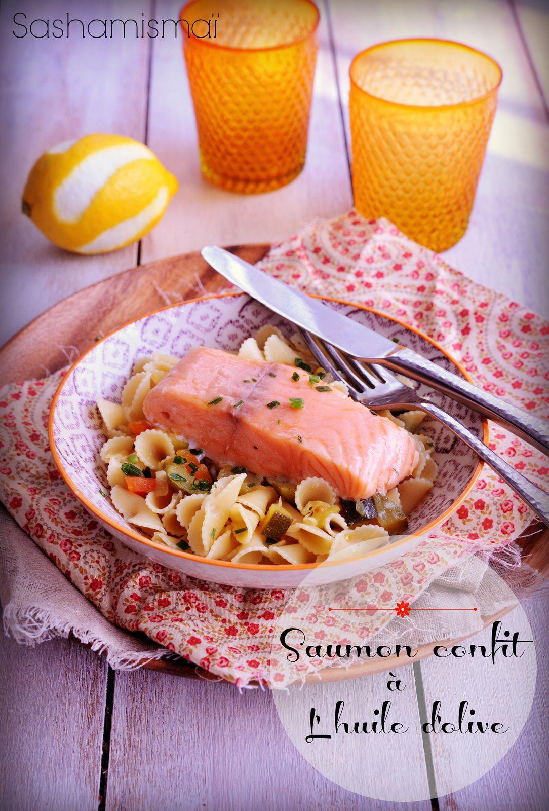 Saumon confit à l'huile d'olive façon Top chef